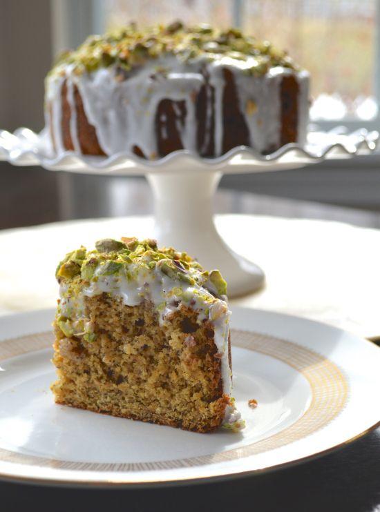 Chai Pistachio Morning Cake from makingitwithdanielle.com