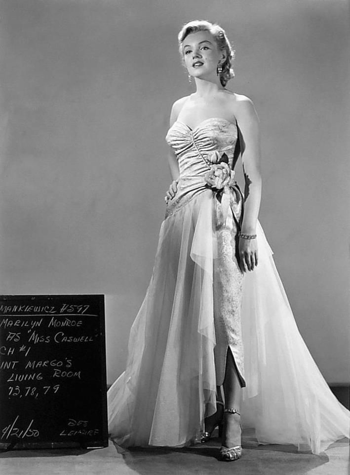 All About Eve. Marilyn Monroe as Miss Casswell. Costume Test for All ... 4a4e21865b903
