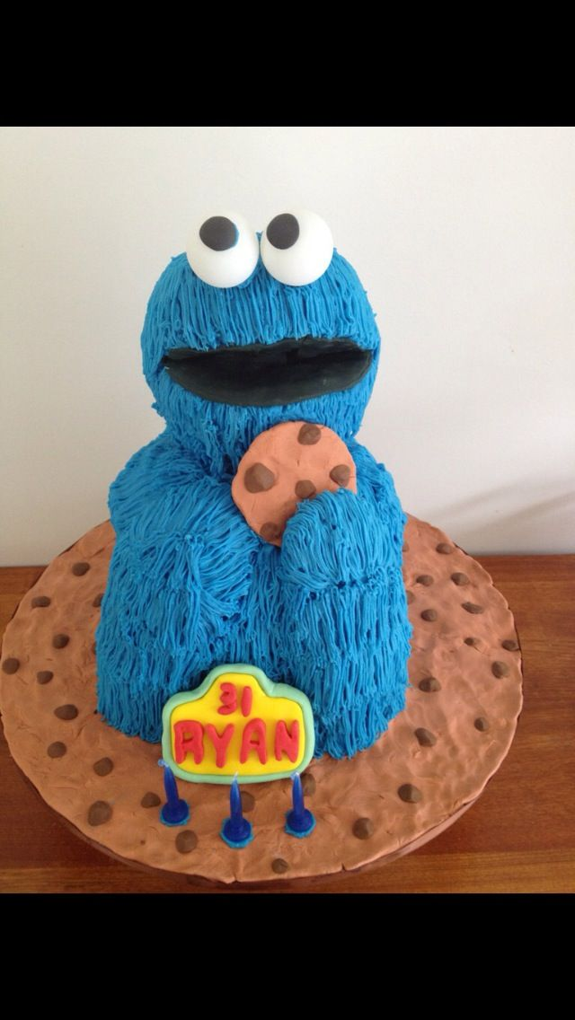 Cookie Monster Cake Not For A 3 Year Old But 31