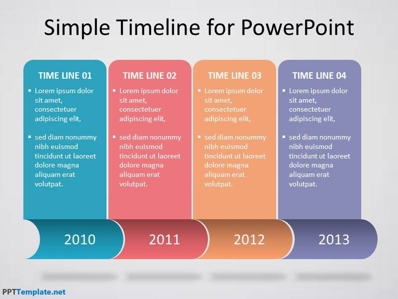 Download free timeline template for PowerPoint presentati