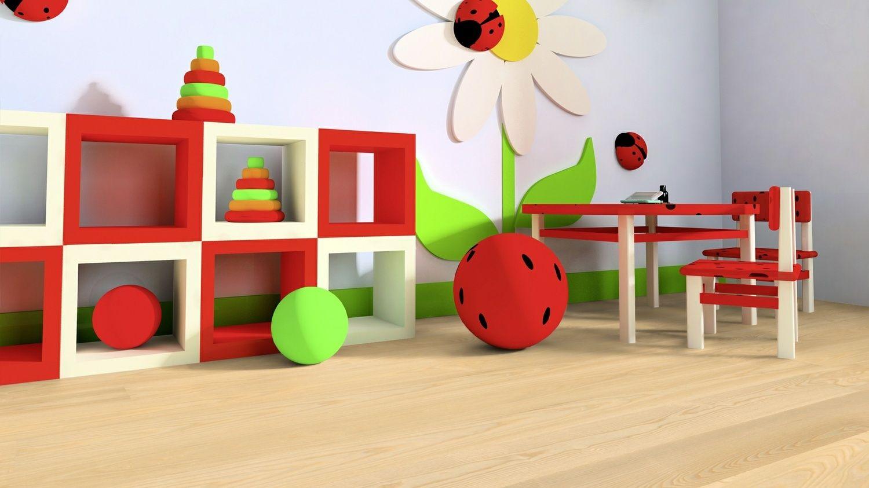kr ftige bunte farben berwiegen in der spielecke f r kinder eine sitzecke zum malen und ein. Black Bedroom Furniture Sets. Home Design Ideas
