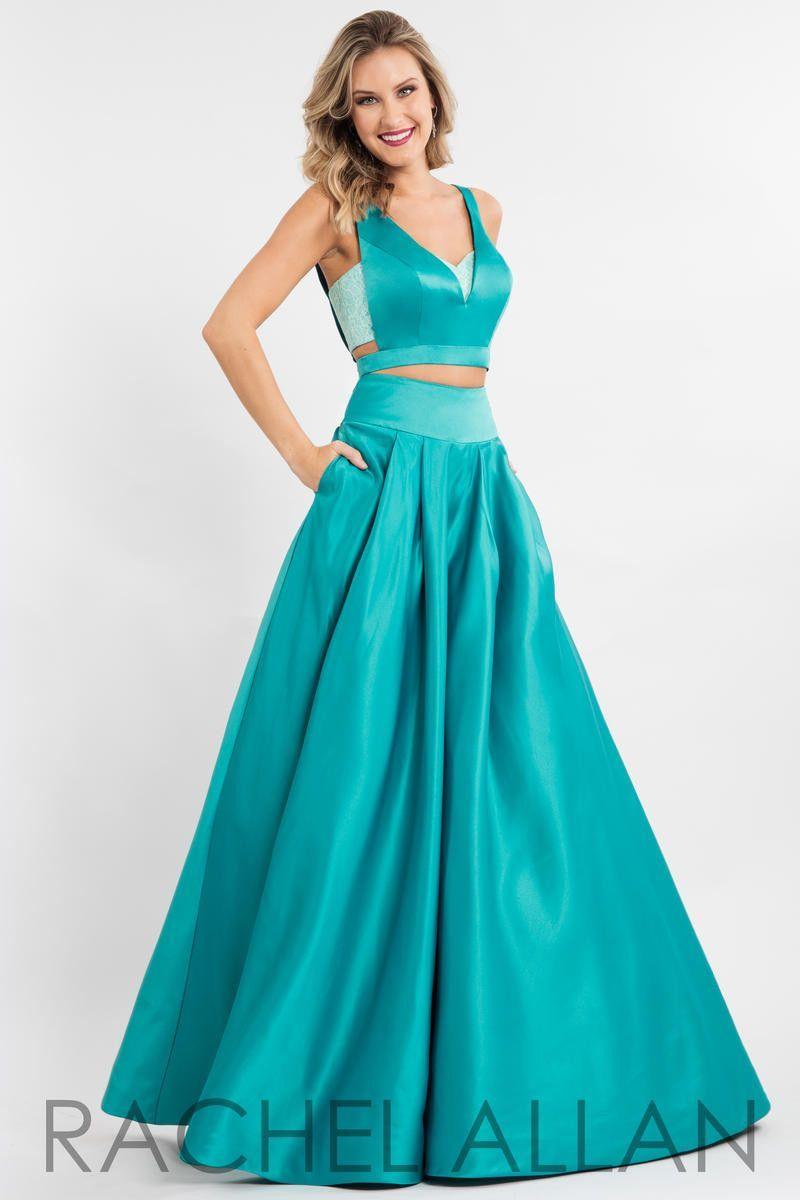 Rachel Allen 2111 Jade 2 piece full skirt prom dress Size 2 | Pretty ...