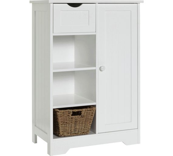Home Shaker Slimline Hall Storage Unit With Cupboard White At Argos Co