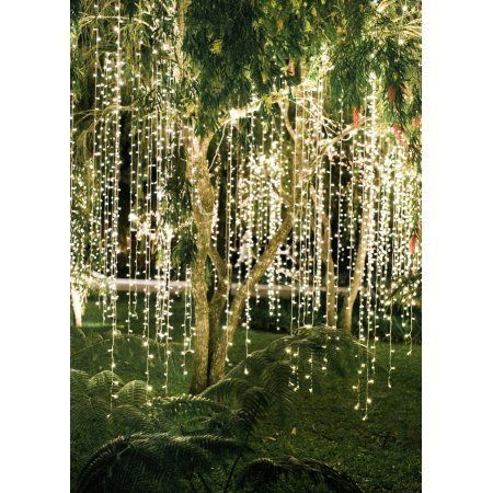 Perfect Holiday 300 led Window Curtain Icicle Lights String Fairy Light Wedding Party Home Garden Decorations 3m*3m, Warm White - Walmart.com