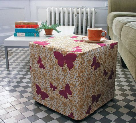 Weekend diys ottomans ottoman slipcover and diy ottoman sew an ottoman slipcover to turn a cheap purchase into something one of a dining chair slipcoversottoman slipcoverdiy solutioingenieria Images