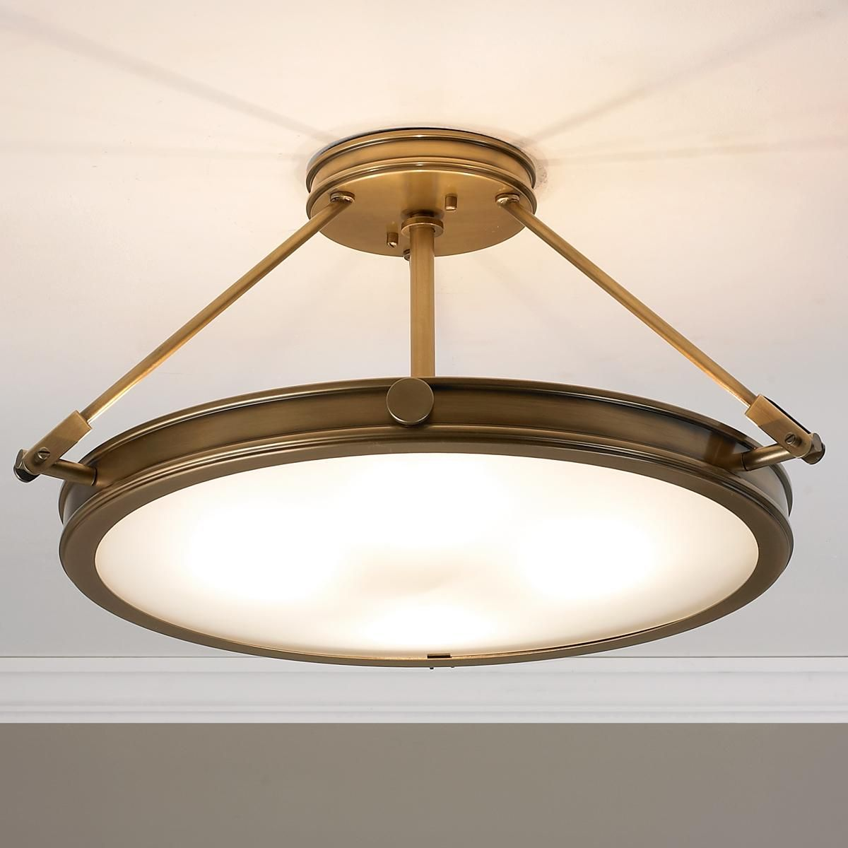 Mid Century Vintage Lights For Sale: Mid-Century Retro Ceiling Light - 4 Light