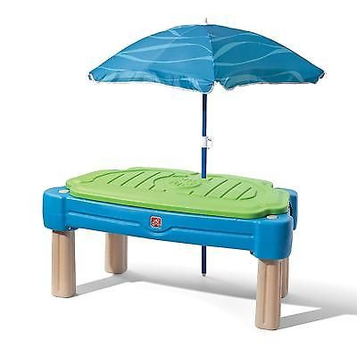 Sand And Water Table With Cover Cascading Cove Sandbox Umbrella Shade  Playset