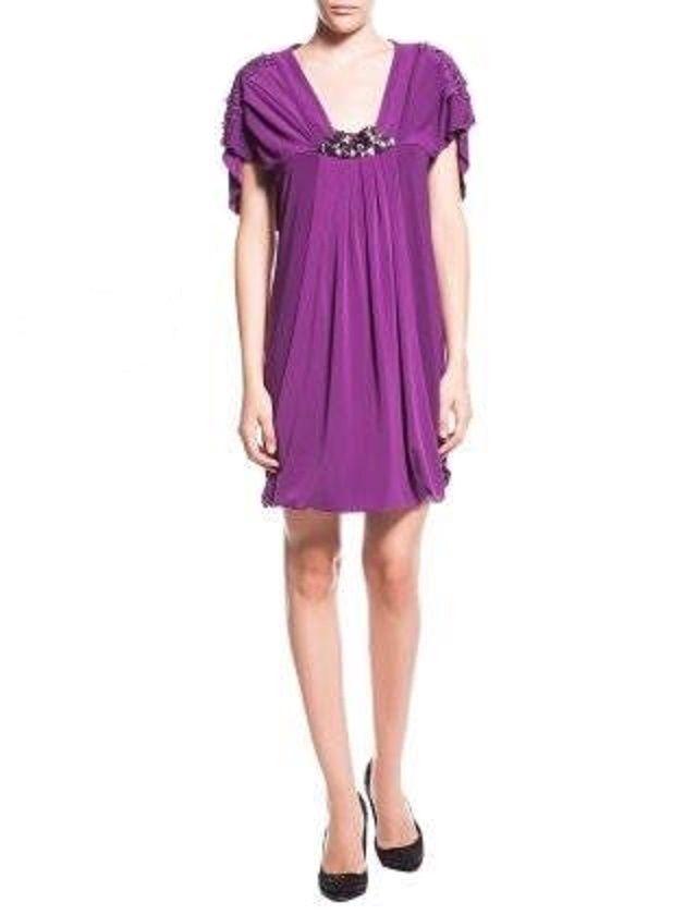 Abendkleid Damen Party Cocktailkleid Lila Designer Kleid ...