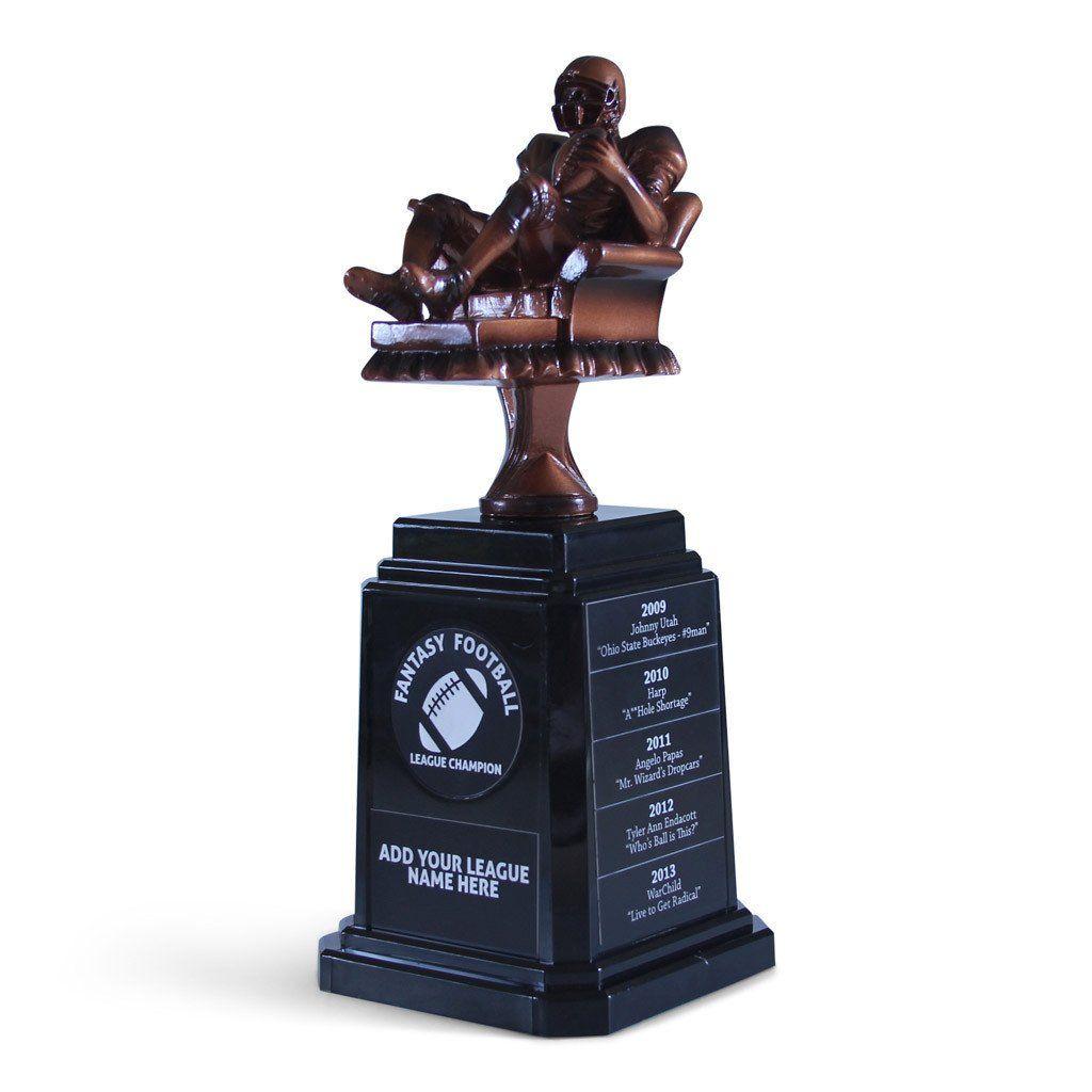 Quarterback Armchair Trophy | Fantasy football, Football ...