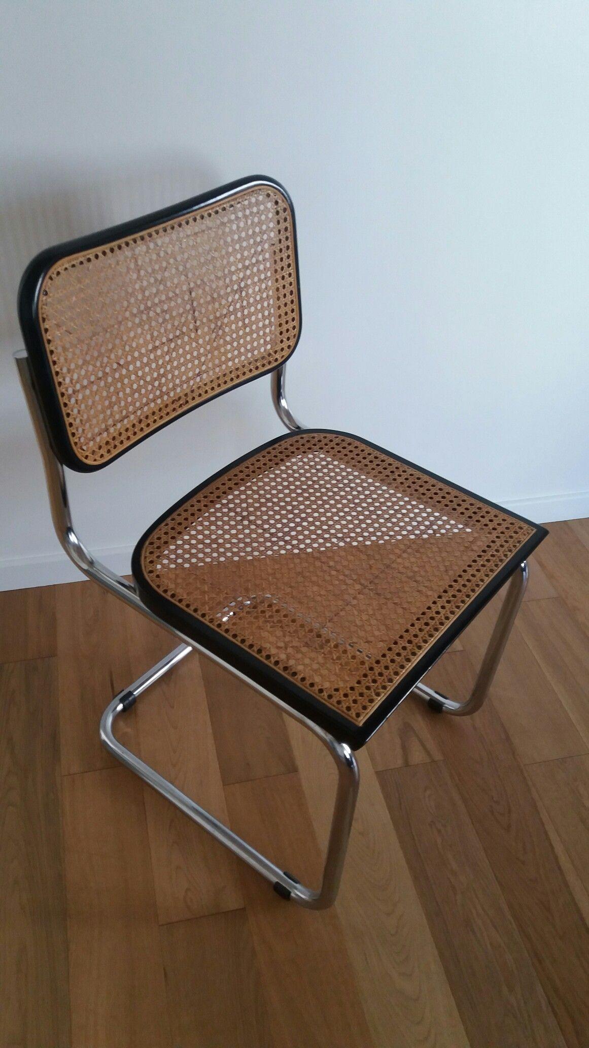 Chaise retro canage chrome