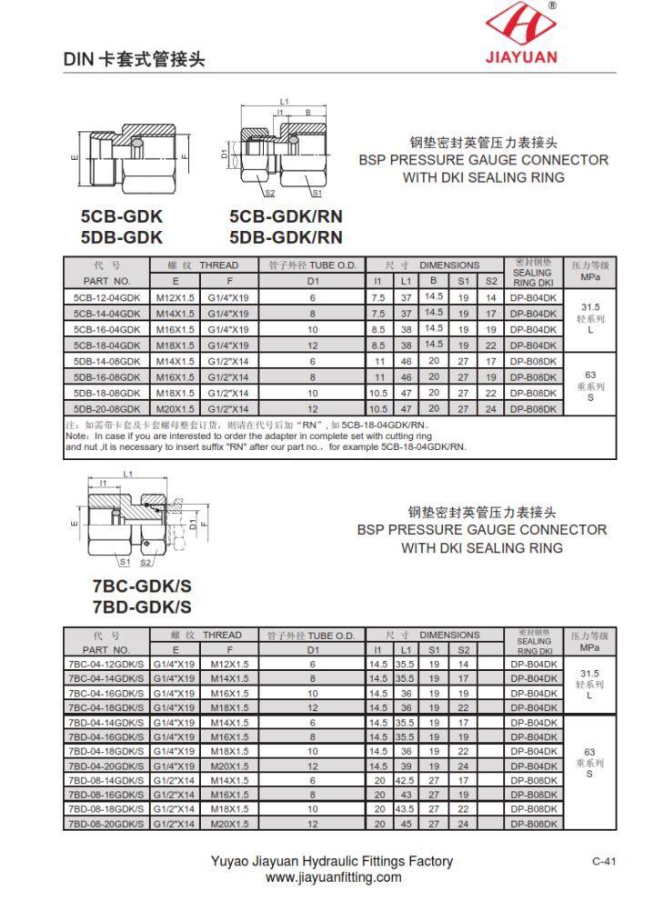 China custom bsp gauge adaptor metric female fittings