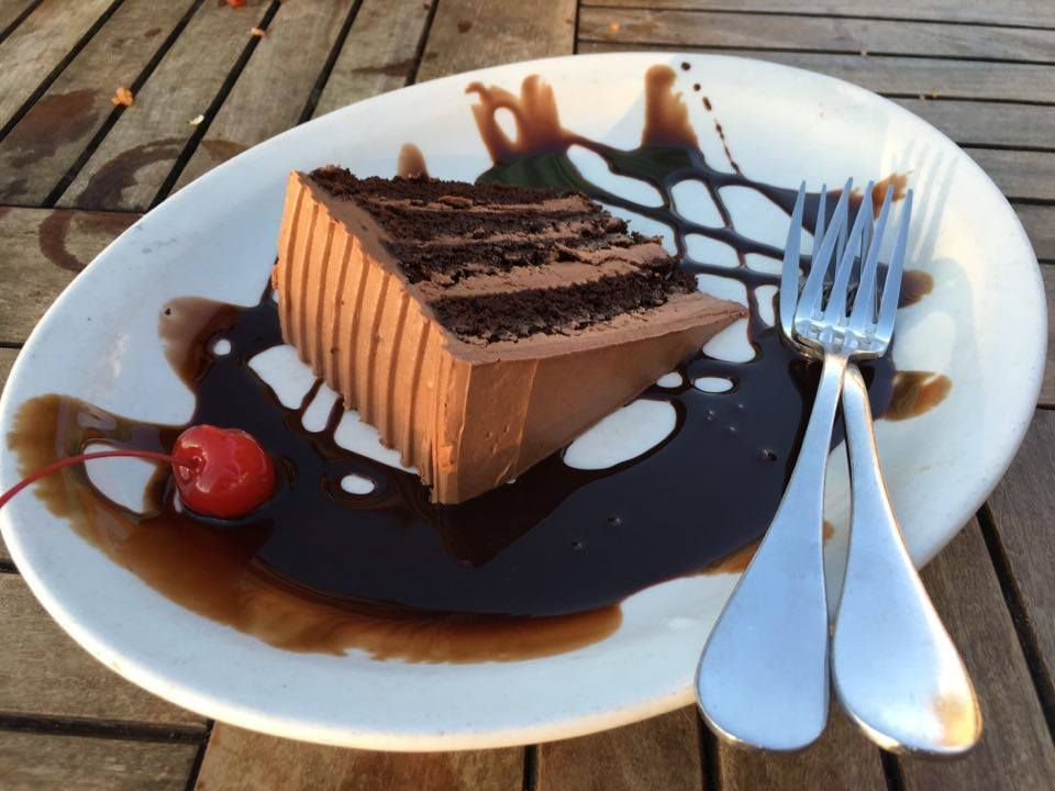 The chocolate cake at Somewhere Cafe in Turks and Caicos is to die for…