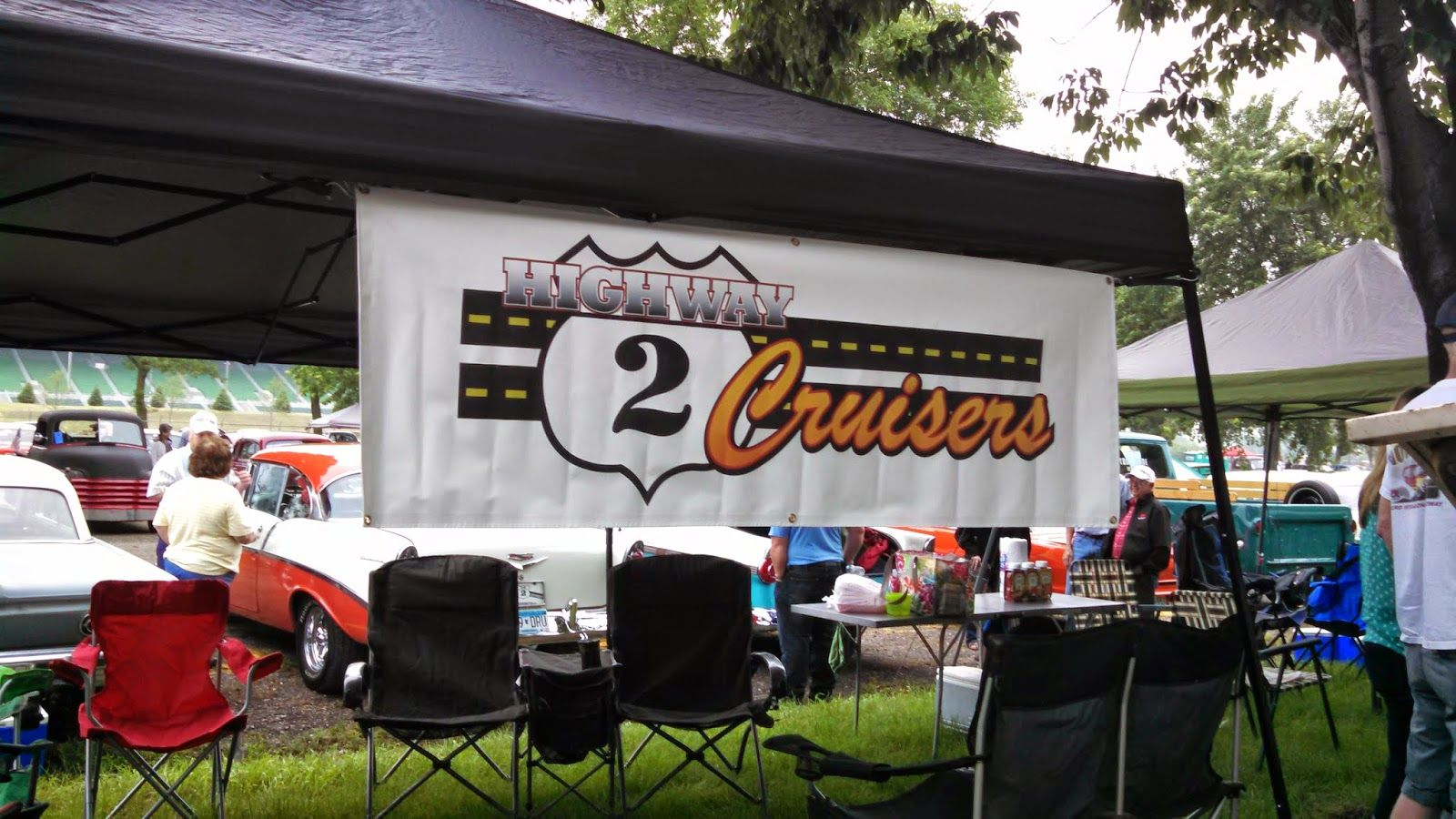 Hwy Cruisers Banner At The Back To The S Car Show Customer - Car show banners