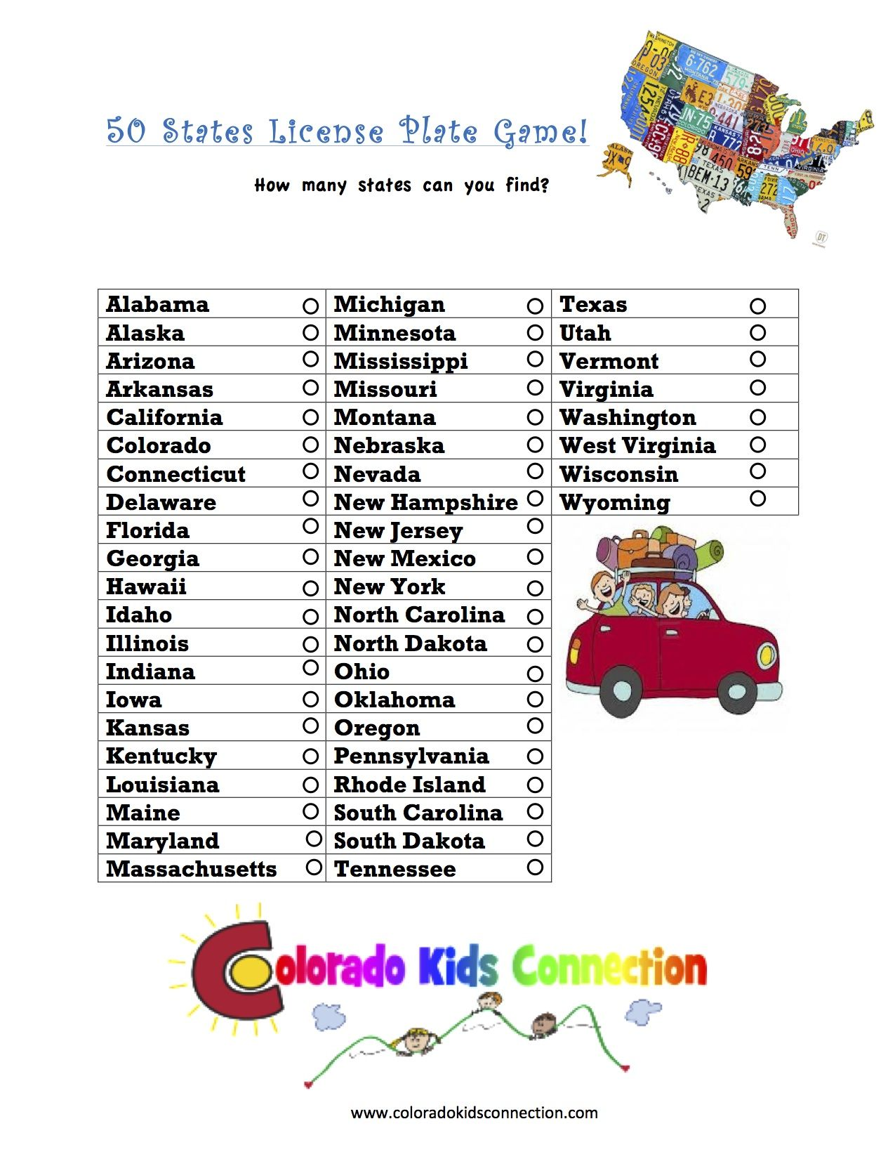 Great Printable Fun Travel Activity For Kids And Teens To