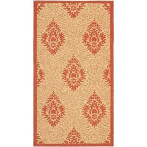 Safavieh Courtyard Natural/Red 2 ft. x 3.6 ft. Area Rug-CY2714-3701-2 at The Home Depot