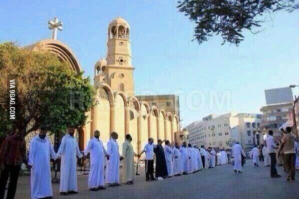 Muslims protecting Christian church.   Christianity, Christian ...