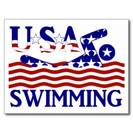 USA Swimming Postcard by RedWhiteAndBlue1  #swimming #USA #redwhiteandblue #swimmingteam
