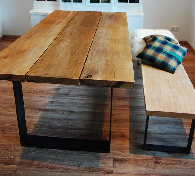 esstische esstisch ger ucherte eiche ein designerst ck von tausend karat bei dawanda. Black Bedroom Furniture Sets. Home Design Ideas