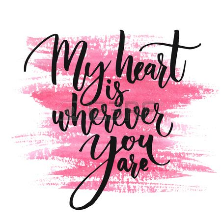 Romantic Quote For Valentines Day Cards And Prints.