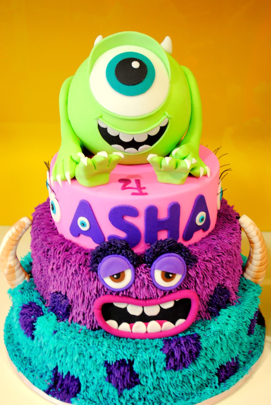 Cool Monsters Inc Monsters University Cake With Images Monster Personalised Birthday Cards Epsylily Jamesorg