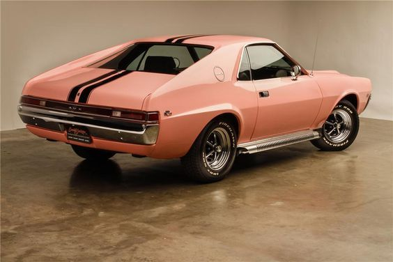 1968 American Motors Amx Custom 2 Door Coupe Rear 3 4 132853 American Motors Pony Car Amc Javelin