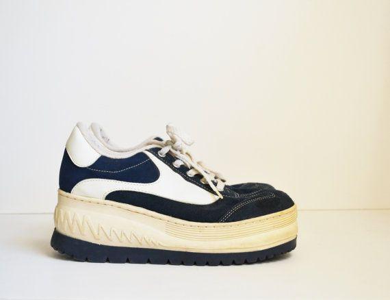 Vintage 90s Platform Sneakers Sneakers