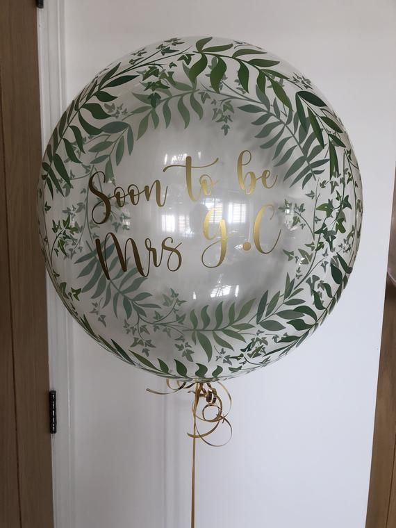 Personalised balloon in a box // birthdays, missing you, anniversary, engagement, baby showers, events