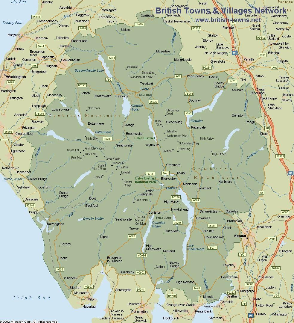 map of lake district cumbria Lake District Map Cumbria Lake District Lake District Lake map of lake district cumbria