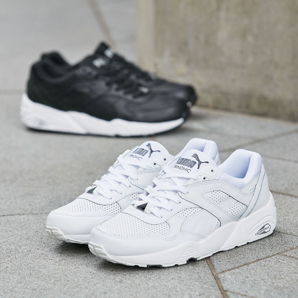 Buy Women Shoes / Puma R698 Core Leather White Trainers