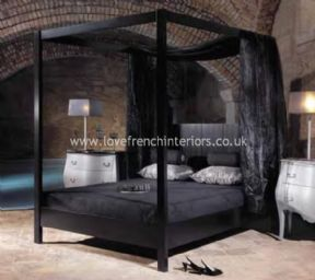 Sexy Beds Endearing Sexy 4 Poster Bed  Four Poster Bed In Satin Black  Amys Room Design Inspiration