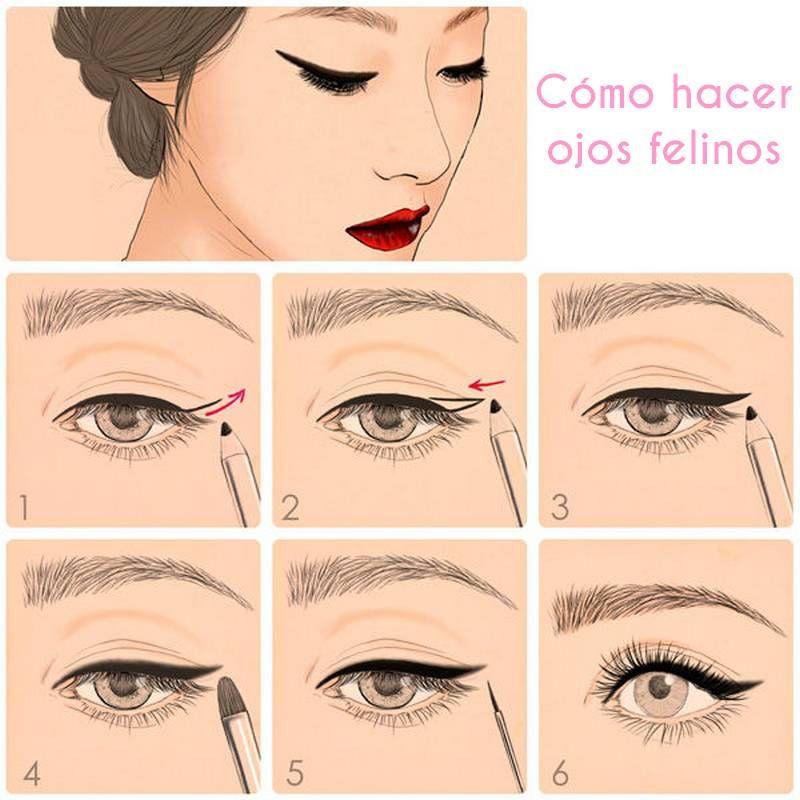 10 diagramas de maquillaje que facilitarán la vida | Ojos ...
