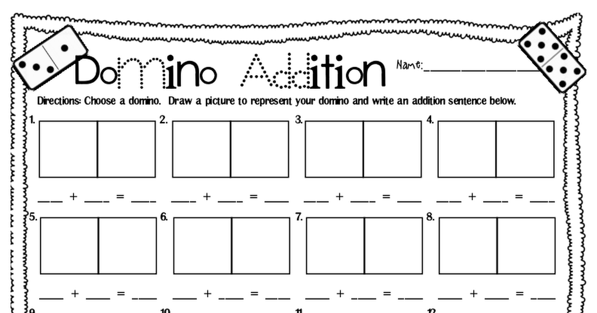 Freebie Domino Addition Pdf Kindergarten Math Money Worksheets Math