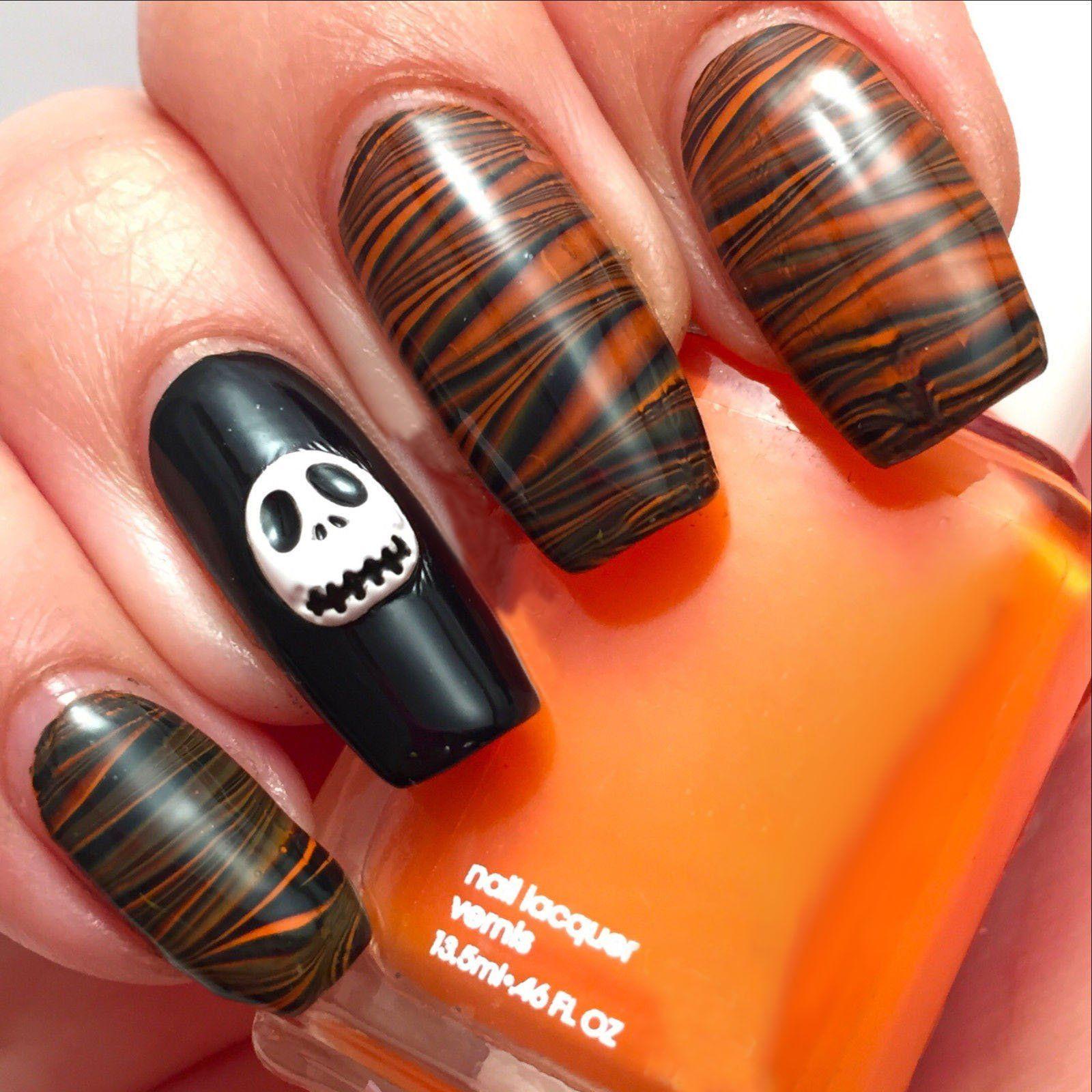 3d Halloween Nail Decoration Studs Pumpkin Ghost Skeleton