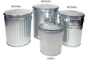 Galvanized Trash Can Galvanized Garbage Can Steel Bins Canning Trash Cans Garbage Can