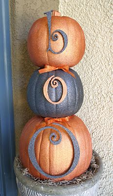 Glitter pumpkins! #pumpkins