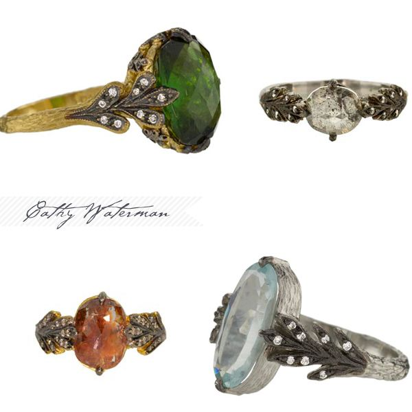 Cathy Waterman engagement rings