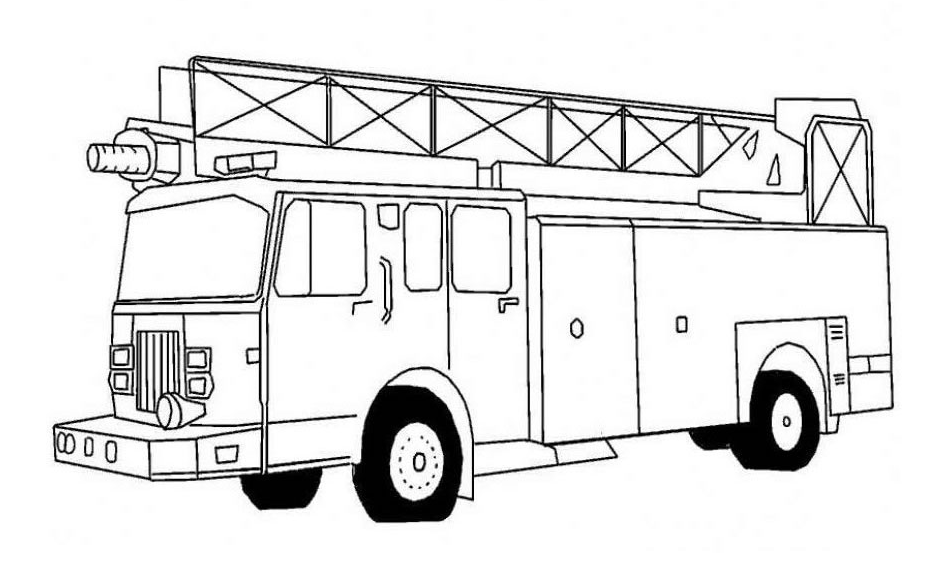printable trucks to color printable fire truck coloring
