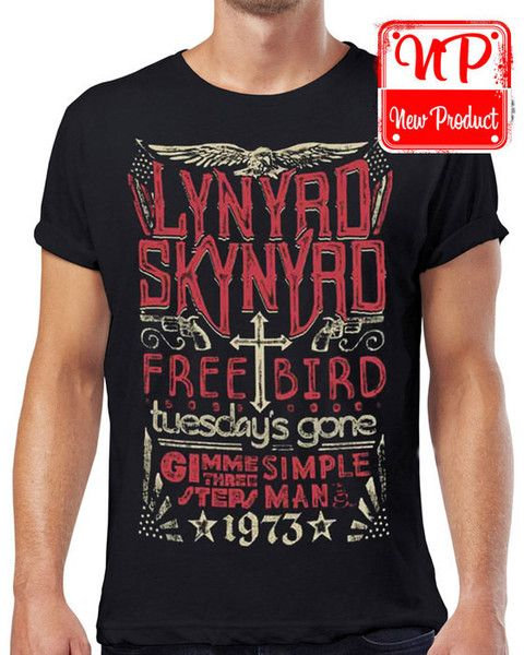 Men/'s T-Shirt Gary Rossington inspired Lynyrd Skynyrd