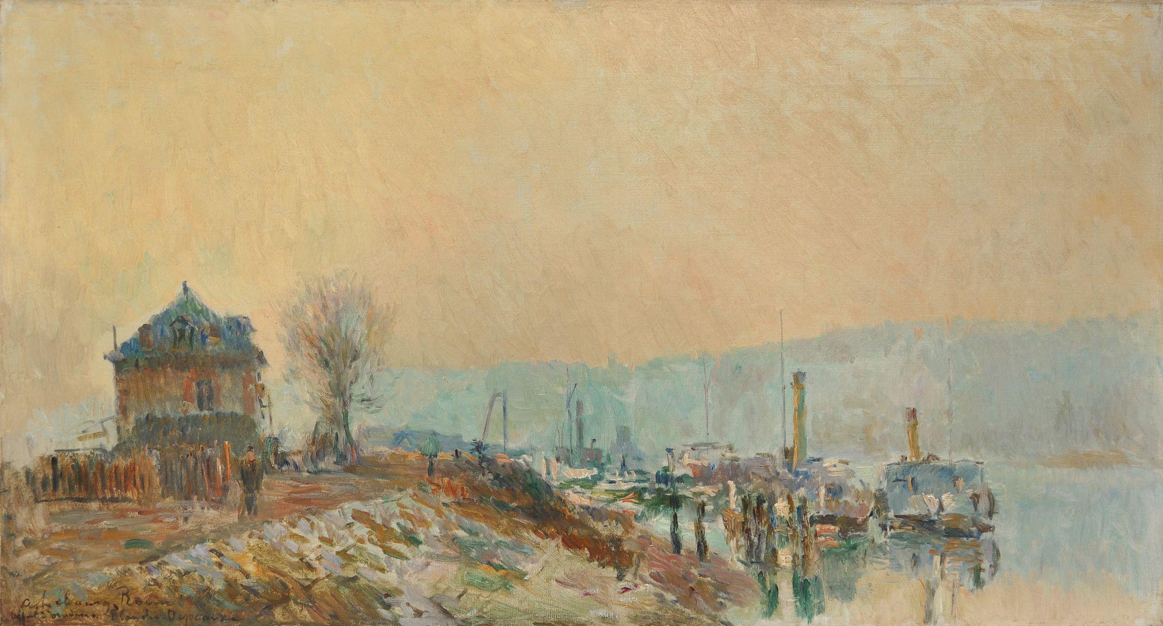 Peintres Ecole De Rouen albert lebourg - le quai au bois à rouen | impressionnisme