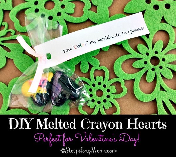 DIY Melted Crayon Hearts #crayonheart
