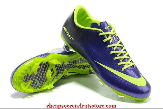 72eceeabb Nike Mercurial Vapor IX FG Purple Fluorescent Yellow Cheap Soccer Cleats