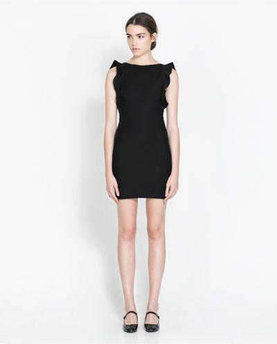 c81b3160 Image 1 of SLEEVELESS TUBE DRESS WITH RUFFLES from Zara $60 ...