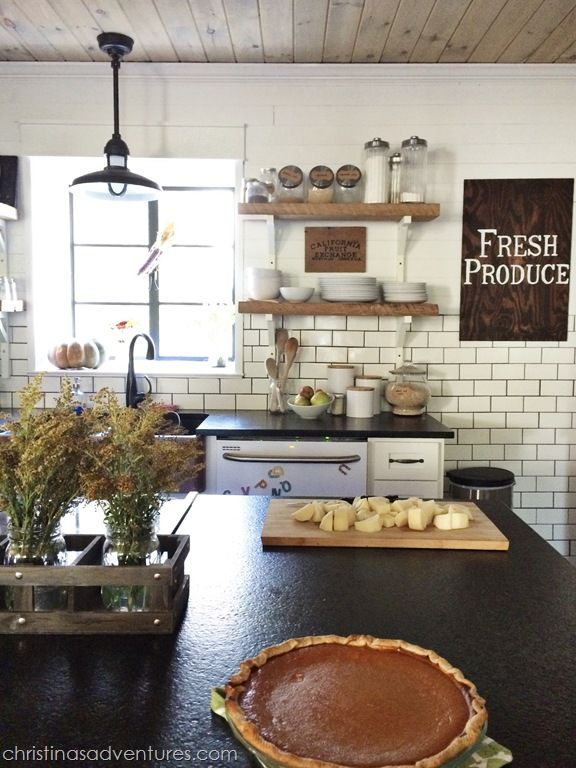 Adventures In Decorating Our Fall Kitchen: Living In 1902: Summer & Fall In Our Kitchen