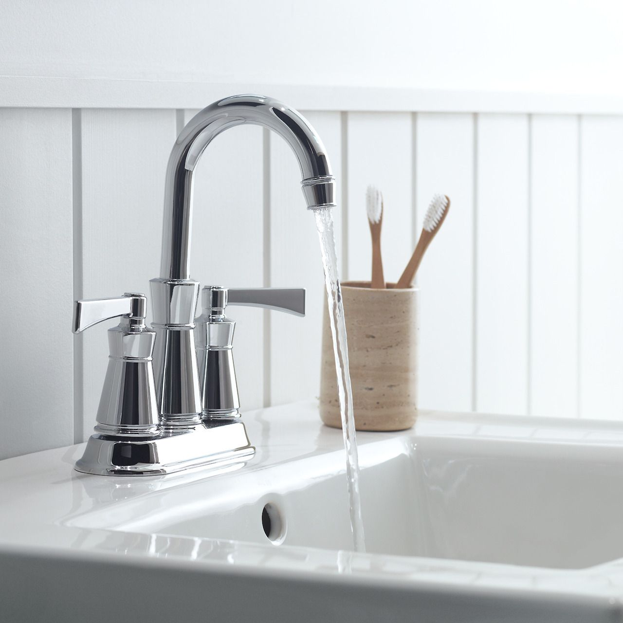 Craftsman Style Bathroom Faucets: The Universal Style Of The Archer Collection Blends Subtle