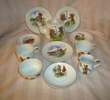Antique Teddy Bear Childs Teaset England