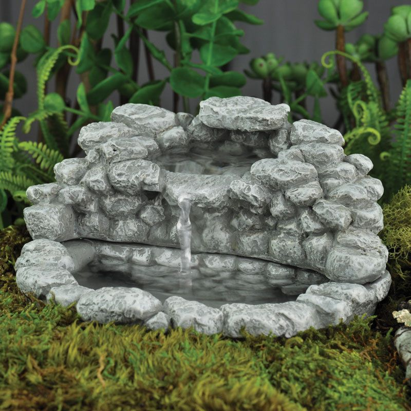Miniature Dollhouse FAIRY GARDEN ~ Fieldstone Fountain ~ NEW #GeorgetownHomeAndGarden