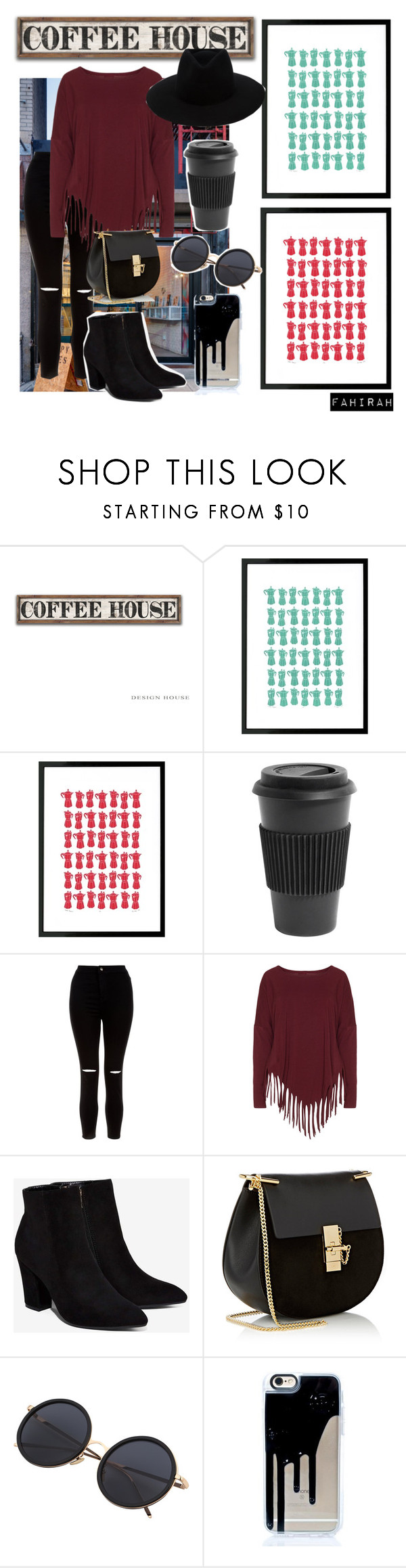 """""""Coffee Date"""" by fahirahsaid ❤ liked on Polyvore featuring Coffee Shop, Homage, New Look, Boris, Billini, Chloé and rag & bone"""