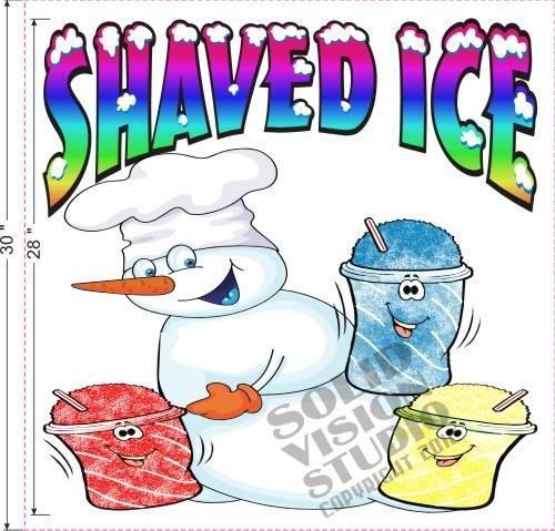 Shaved ice decals