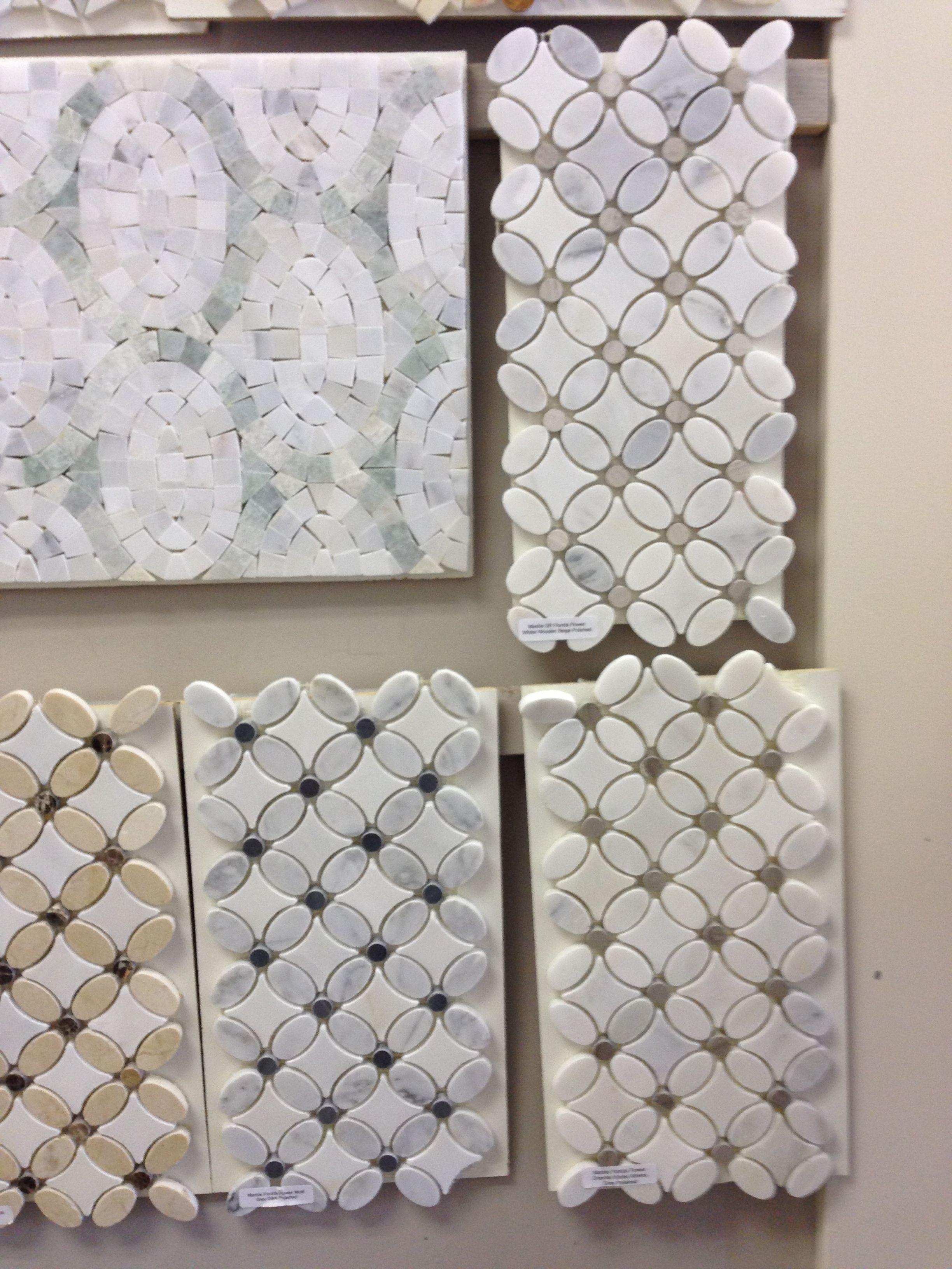 - Marble Florida Flower. Saltillo Tile Marble Tile Floor, Interior