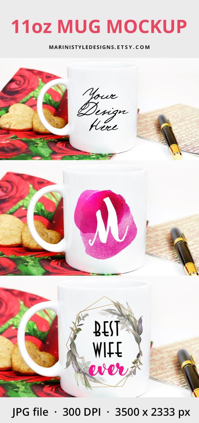 Romantic 11oz Coffee Mug Mockup For Valentines Day White Mug Mockup On Romantic Red Background 11oz Coffee Cup Mockup Photo Of Mug 315 Red Background Graphic Design Software Personalized Mugs